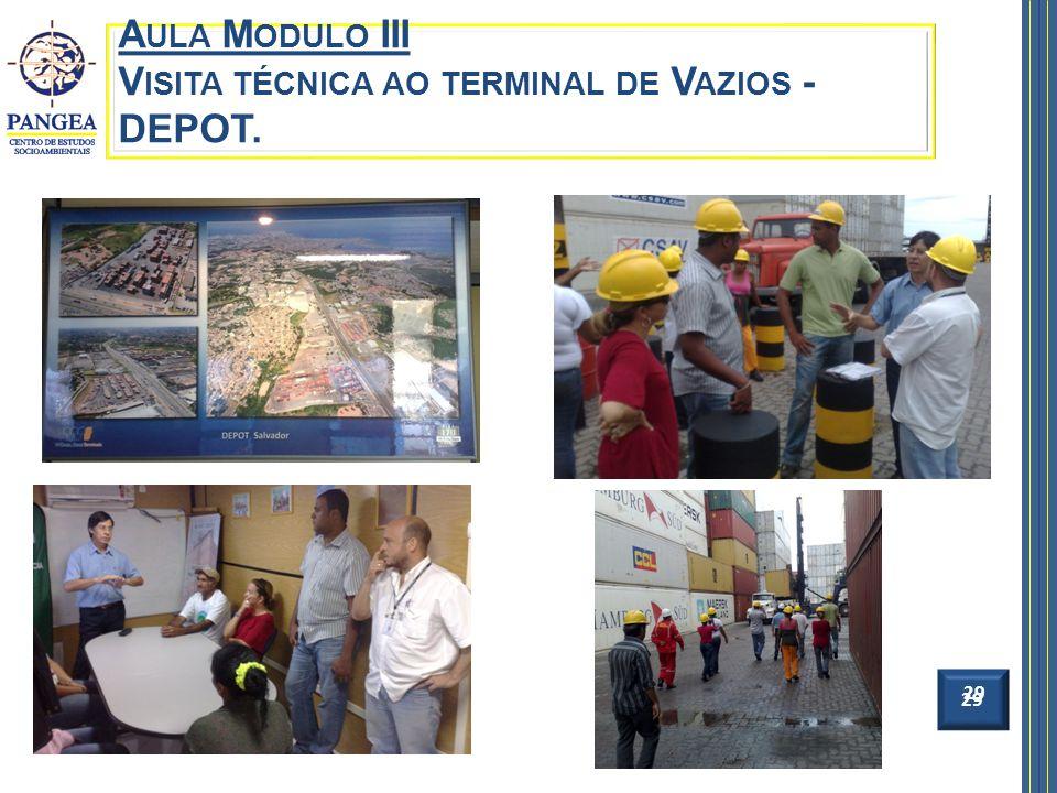Aula Modulo III Visita técnica ao terminal de Vazios - DEPOT.