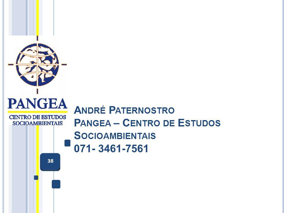 André Paternostro Pangea – Centro de Estudos Socioambientais 071- 3461-7561