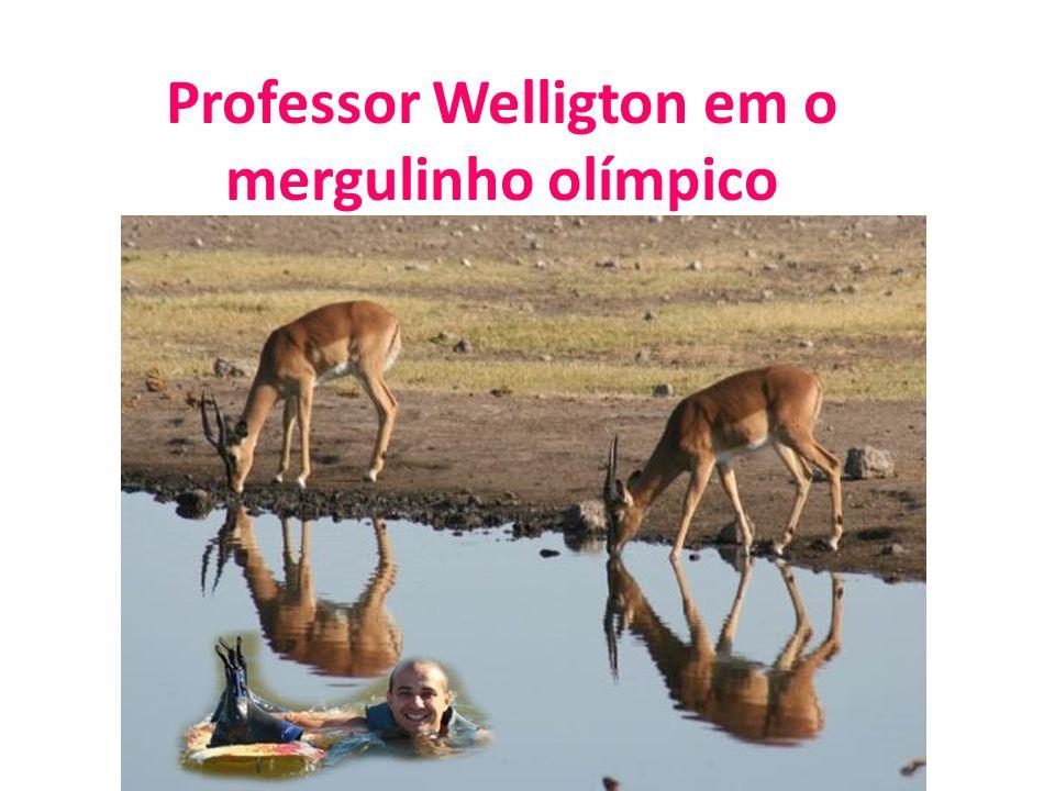 Professor Welligton em o mergulinho olímpico