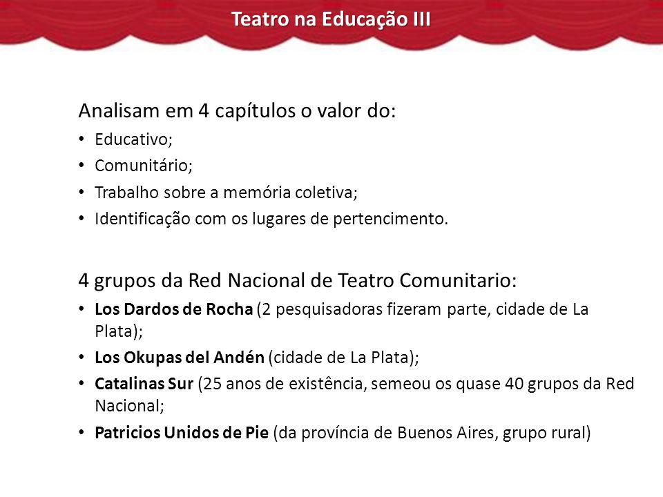 Analisam em 4 capítulos o valor do: