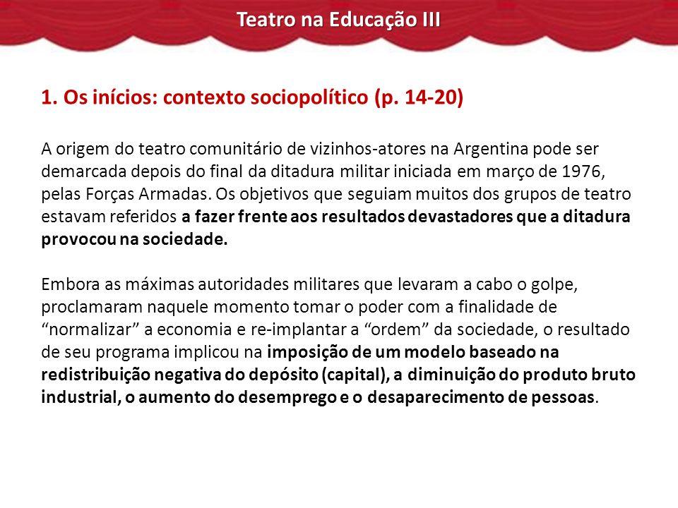 1. Os inícios: contexto sociopolítico (p. 14-20)