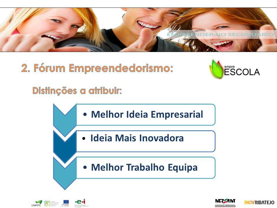 2. Fórum Empreendedorismo: Melhor Ideia Empresarial