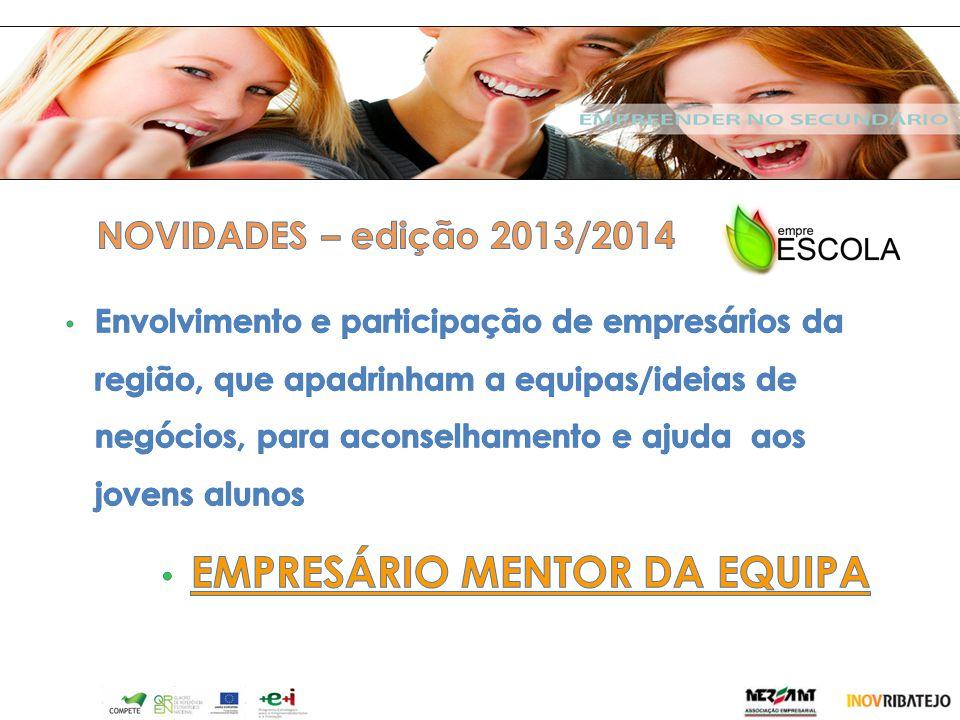 v EMPRESÁRIO MENTOR DA EQUIPA NOVIDADES – edição 2013/2014