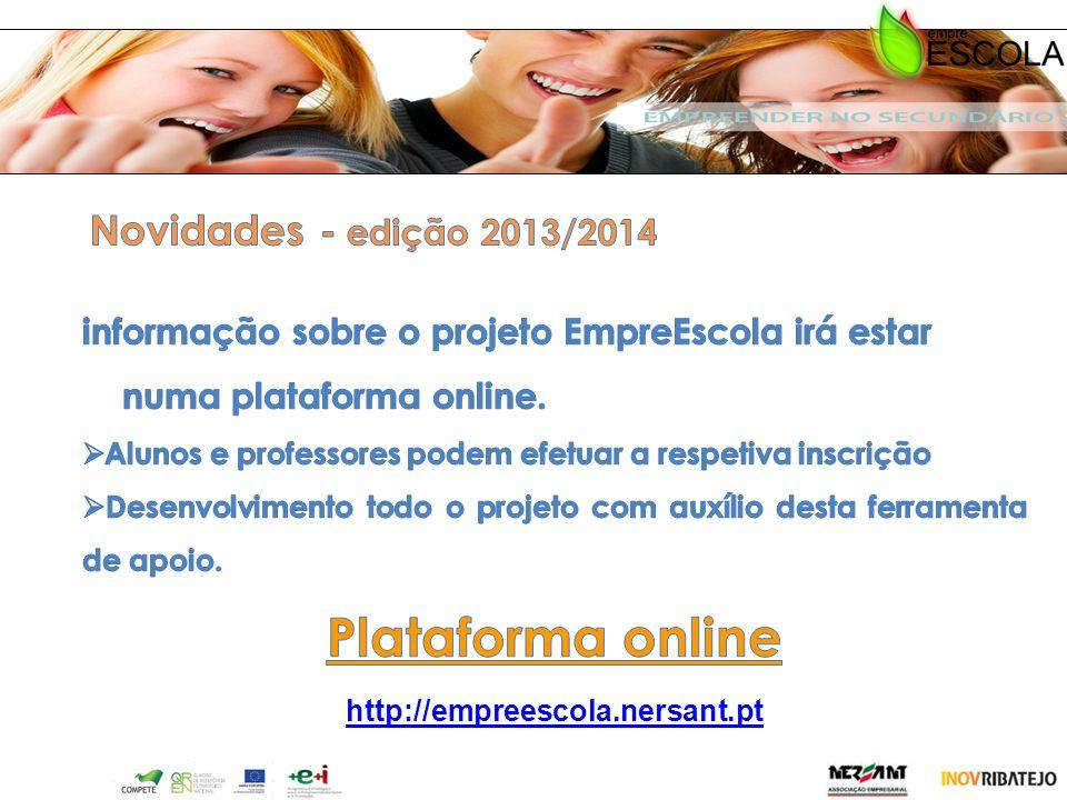Plataforma online Novidades - edição 2013/2014