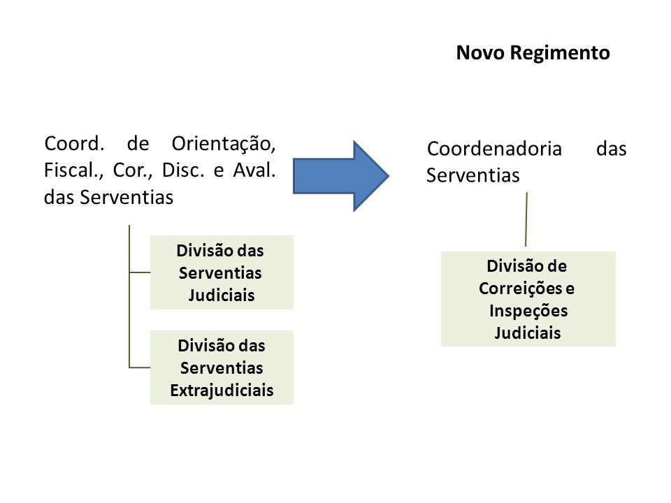 Coord. de Orientação, Fiscal., Cor., Disc. e Aval. das Serventias