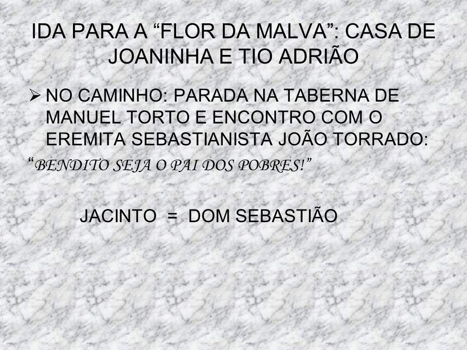 IDA PARA A FLOR DA MALVA : CASA DE JOANINHA E TIO ADRIÃO