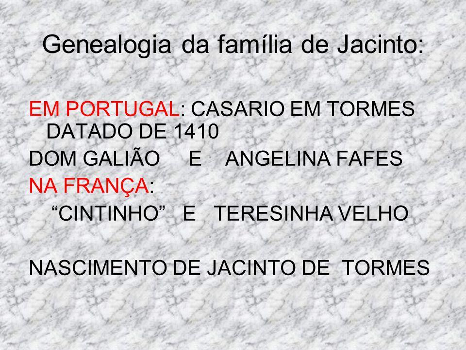 Genealogia da família de Jacinto: