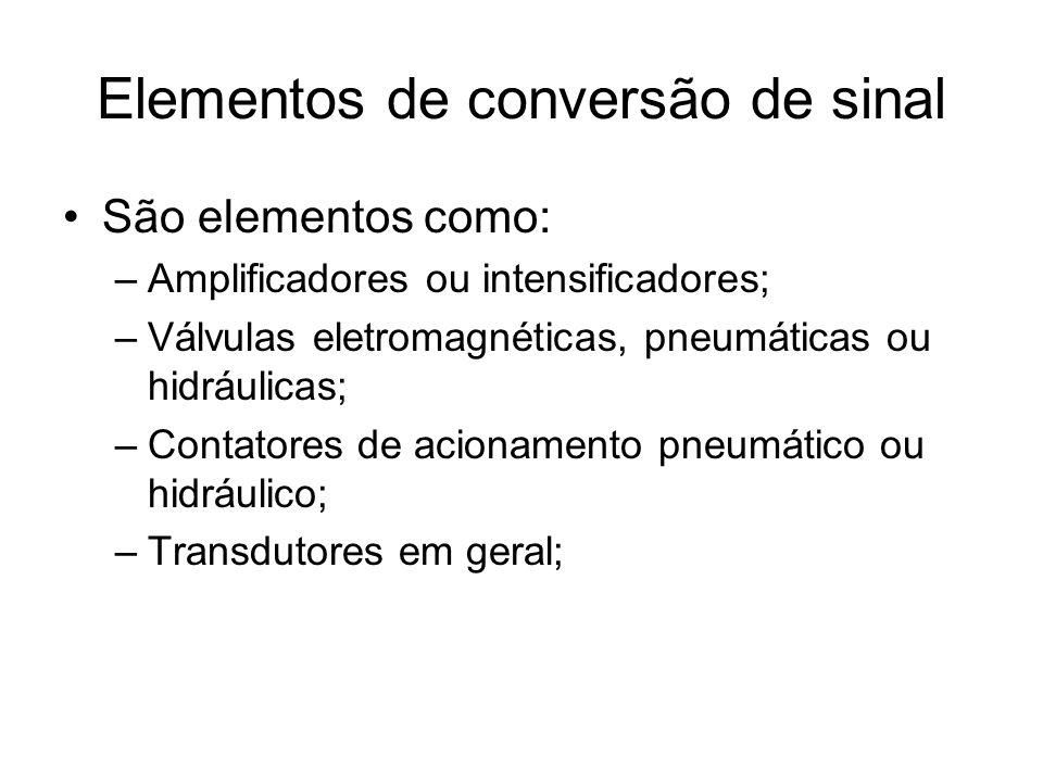 Elementos de conversão de sinal