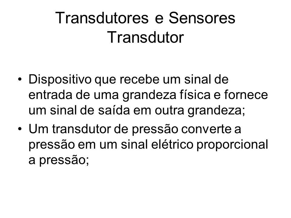 Transdutores e Sensores Transdutor