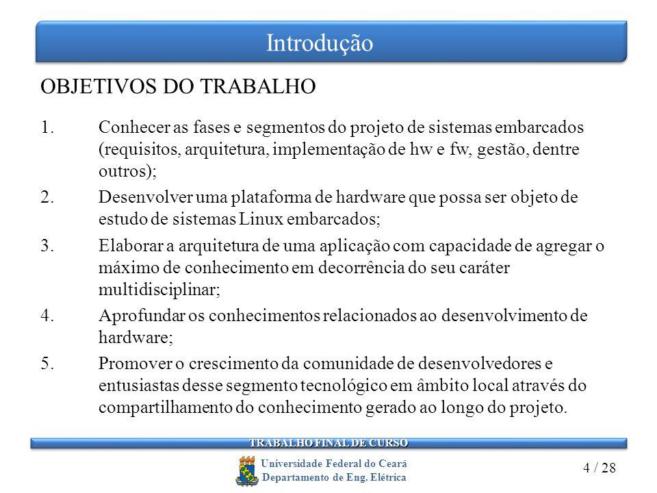Introdução OBJETIVOS DO TRABALHO