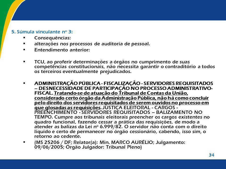 alterações nos processos de auditoria de pessoal.