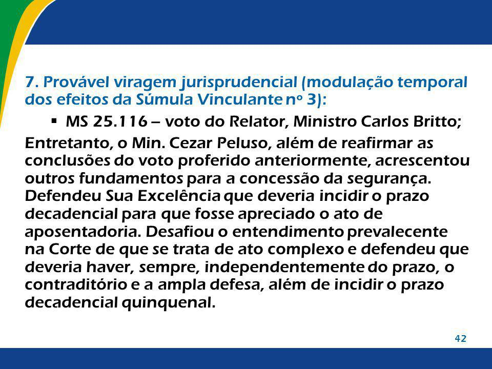 MS 25.116 – voto do Relator, Ministro Carlos Britto;