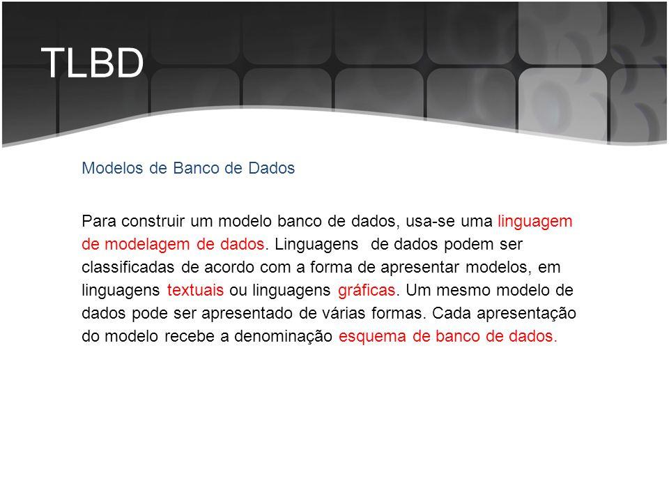 TLBD Modelos de Banco de Dados