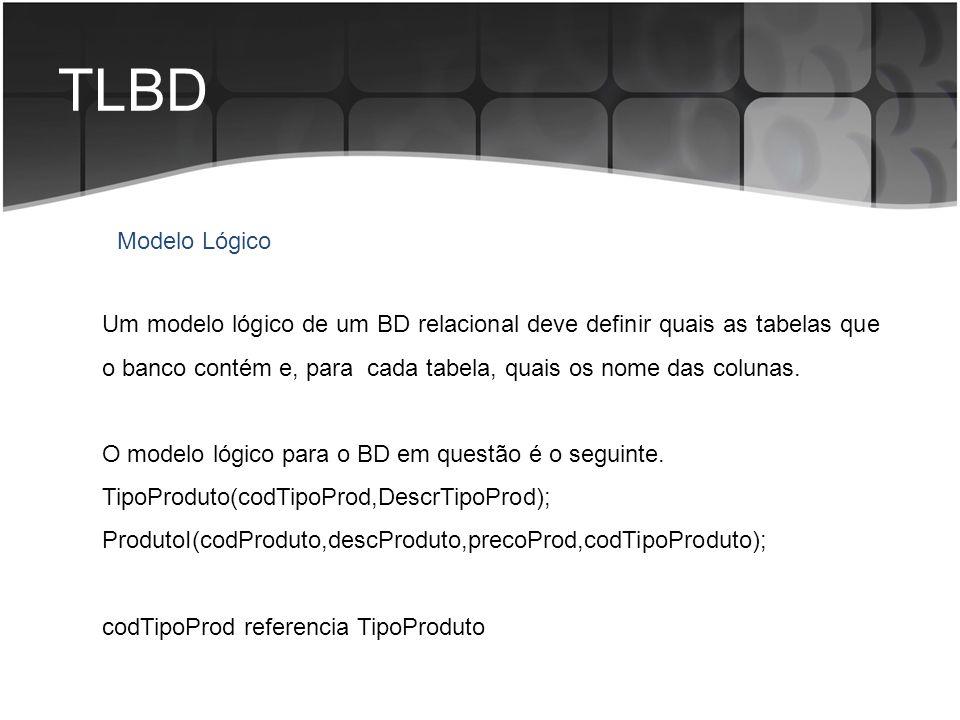 TLBD Modelo Lógico.