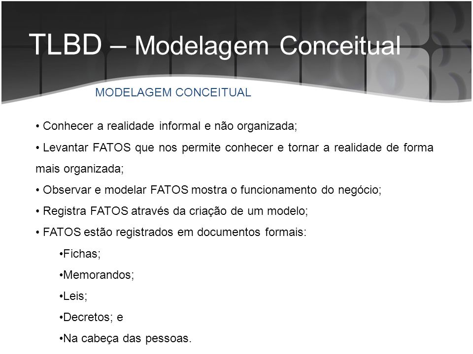 TLBD – Modelagem Conceitual