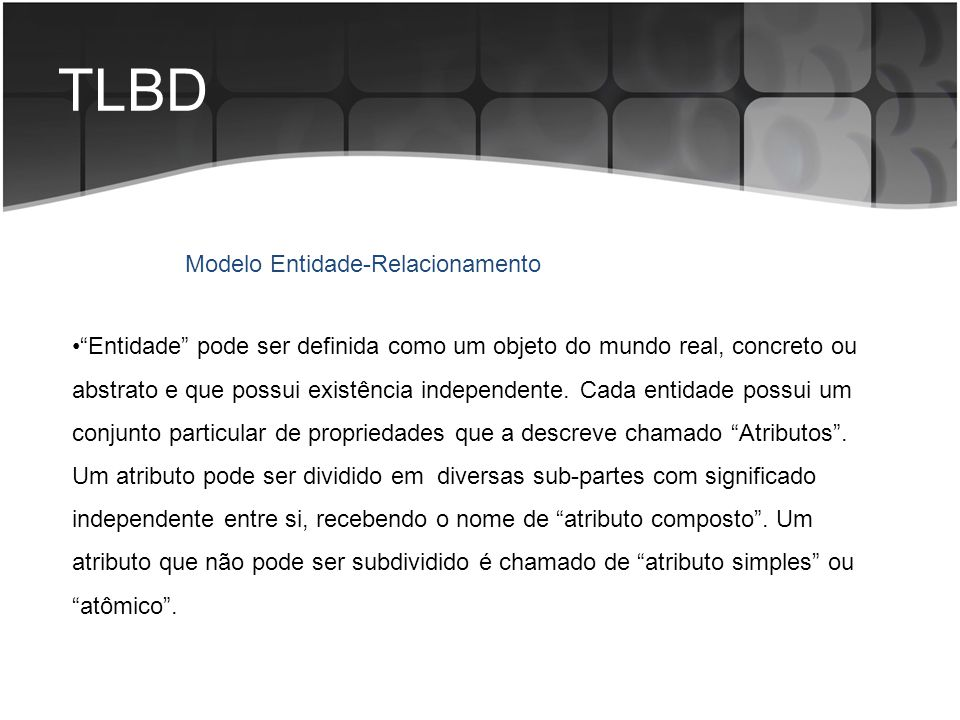 TLBD Modelo Entidade-Relacionamento