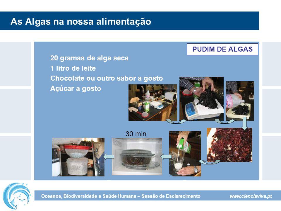 As Algas na nossa alimentação