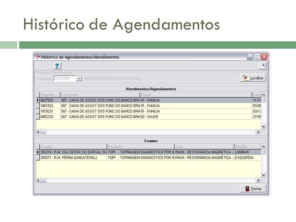 Histórico de Agendamentos