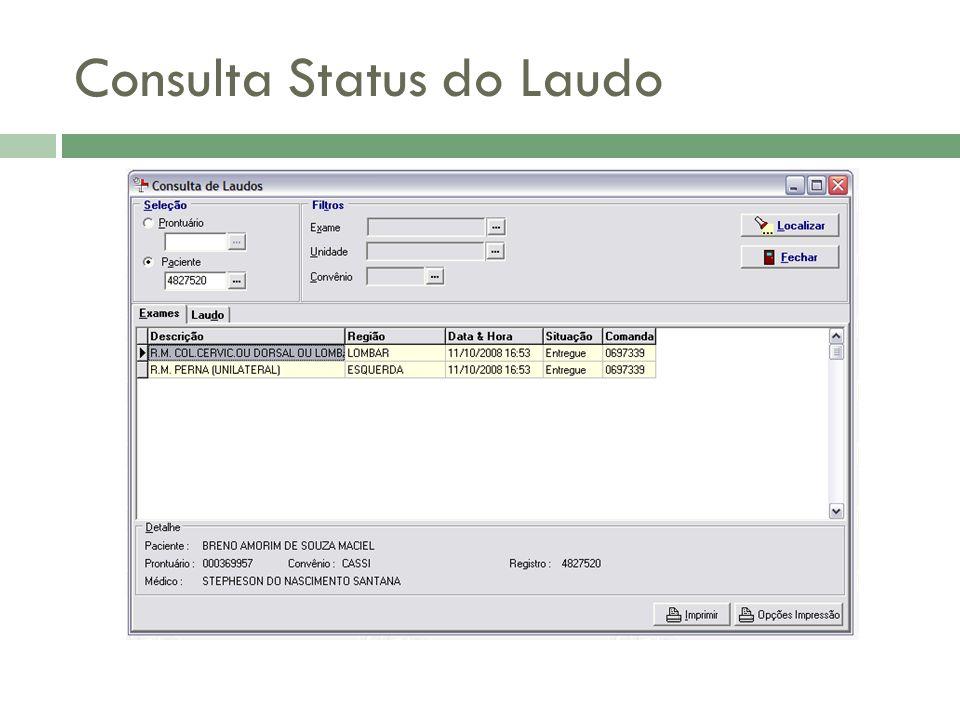 Consulta Status do Laudo