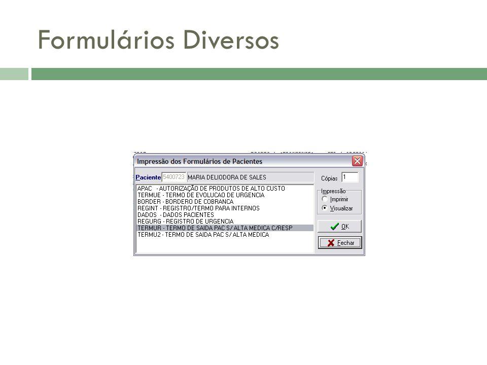 Formulários Diversos