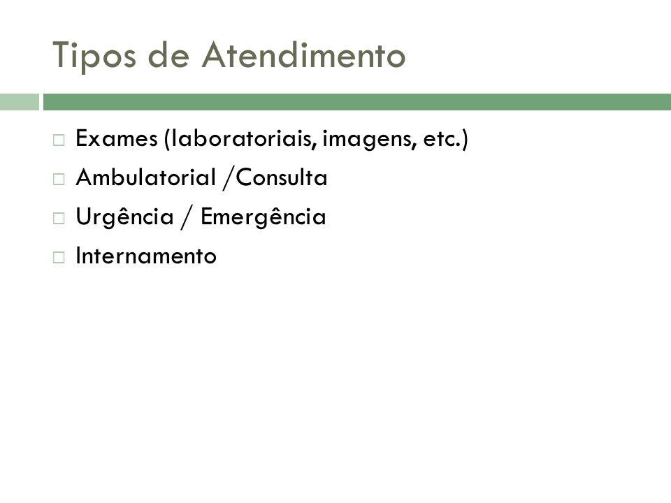 Tipos de Atendimento Exames (laboratoriais, imagens, etc.)
