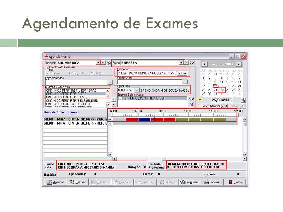 Agendamento de Exames