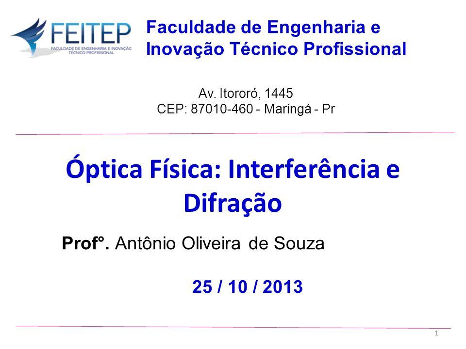 Óptica Física: Interferência e Difração