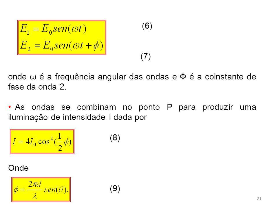 (6) (7) onde ω é a frequência angular das ondas e Ф é a colnstante de fase da onda 2.