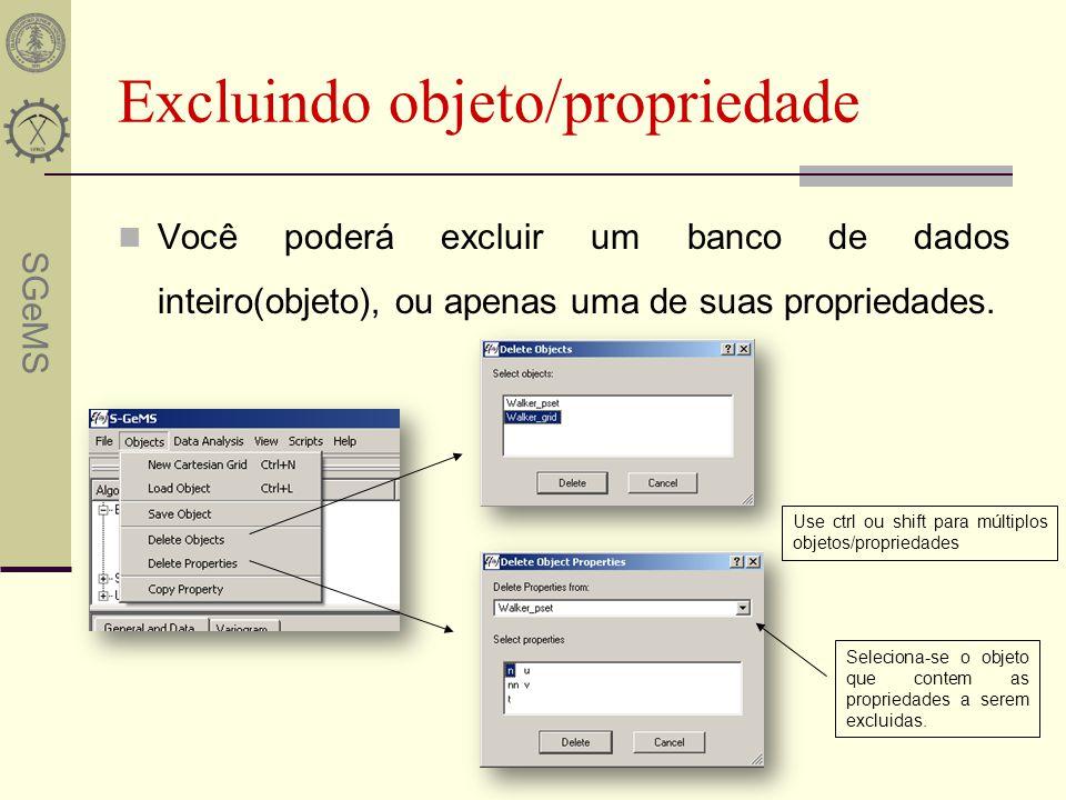Excluindo objeto/propriedade