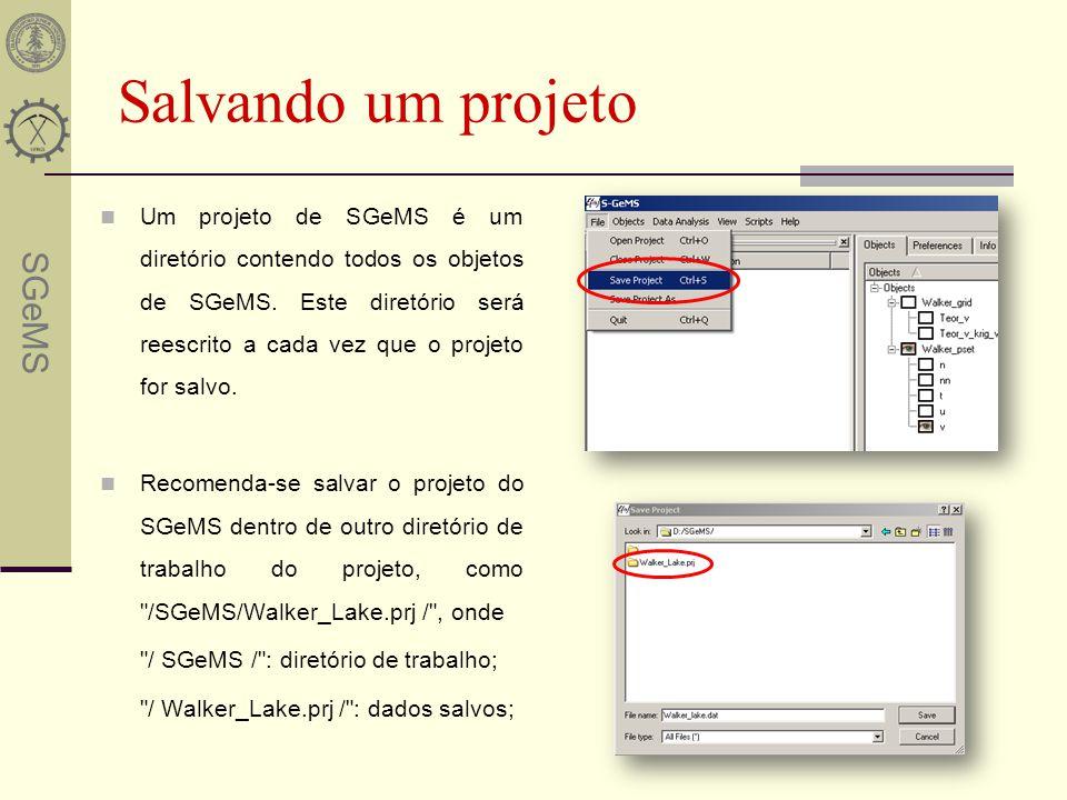 Salvando um projeto