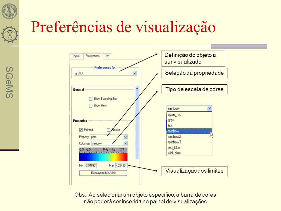 Preferências de visualização