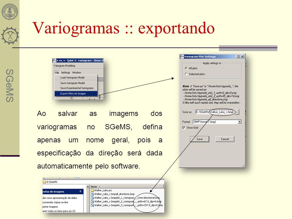 Variogramas :: exportando