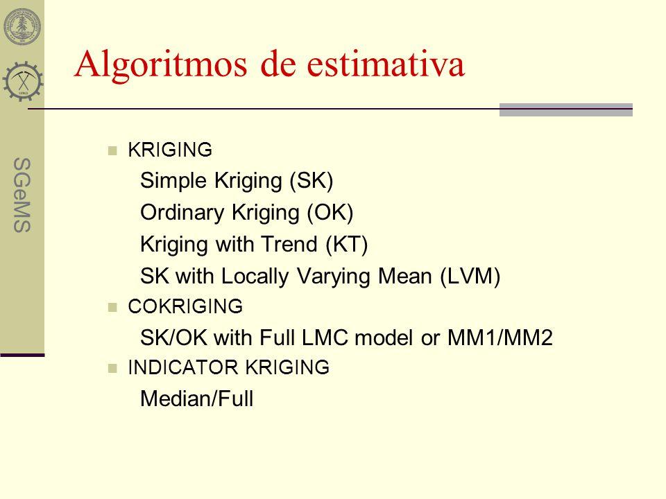 Algoritmos de estimativa