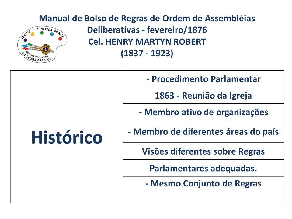 Manual de Bolso de Regras de Ordem de Assembléias Deliberativas - fevereiro/1876