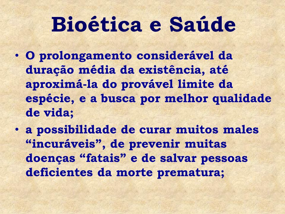 Bioética e Saúde