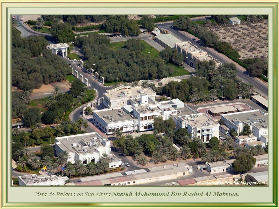 Vista do Palácio de Sua Alteza Sheikh Mohammed Bin Rashid Al Maktoum