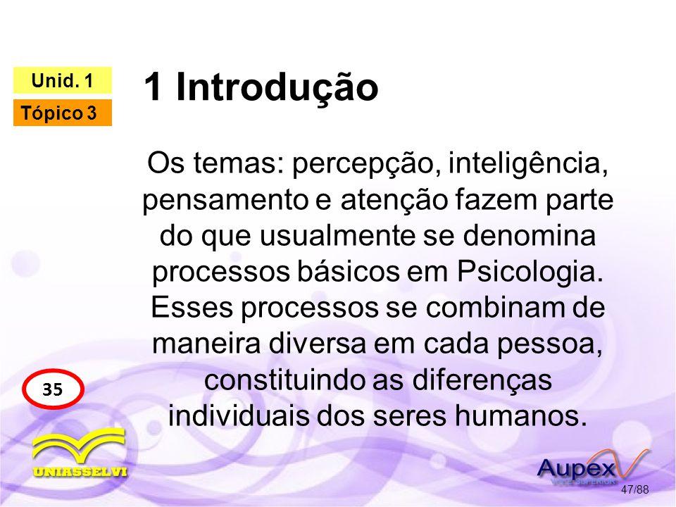 1 Introdução Unid. 1. Tópico 3.
