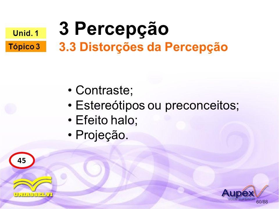 3 Percepção 3.3 Distorções da Percepção