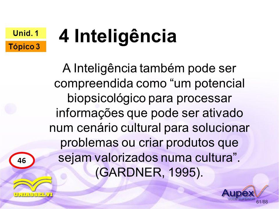 4 Inteligência Unid. 1. Tópico 3.