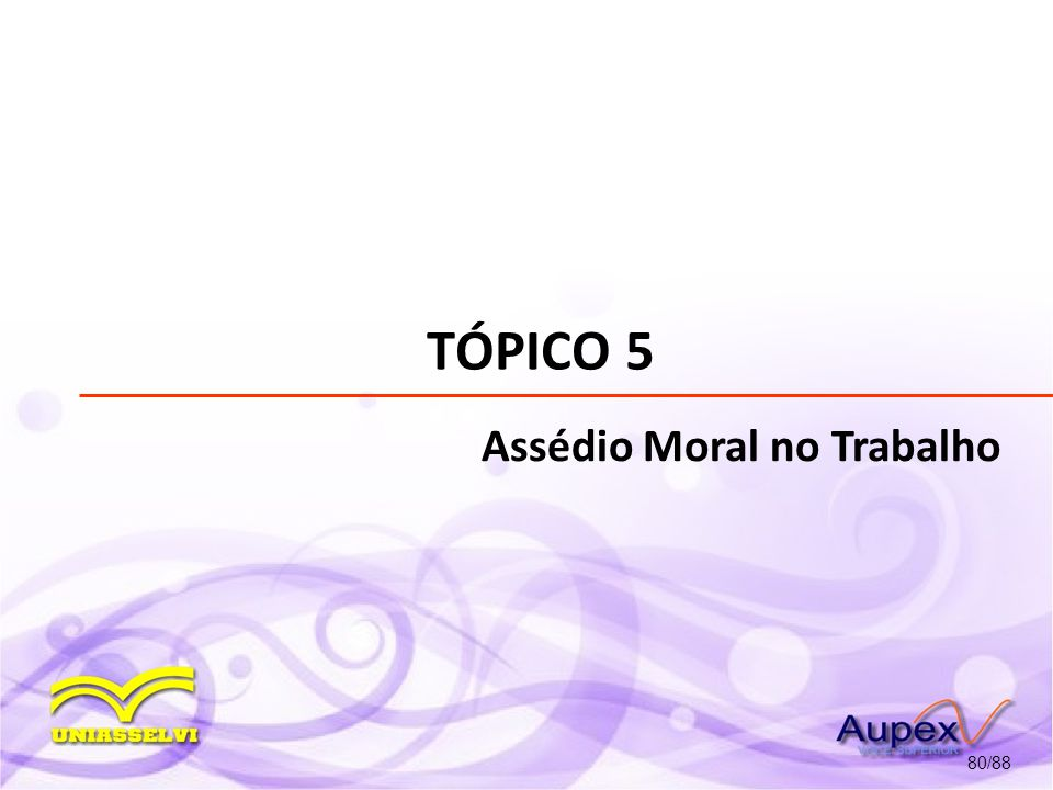TÓPICO 5 Assédio Moral no Trabalho 80/88