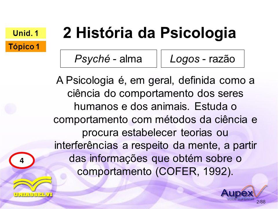 2 História da Psicologia