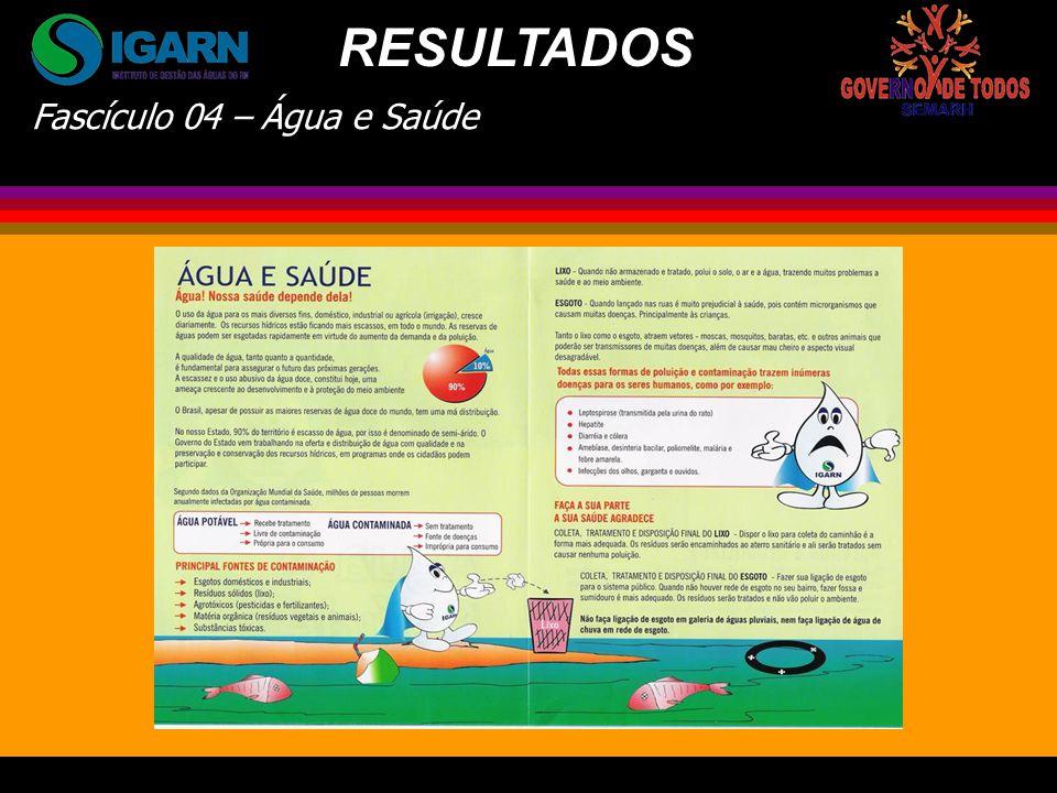 RESULTADOS Fascículo 04 – Água e Saúde