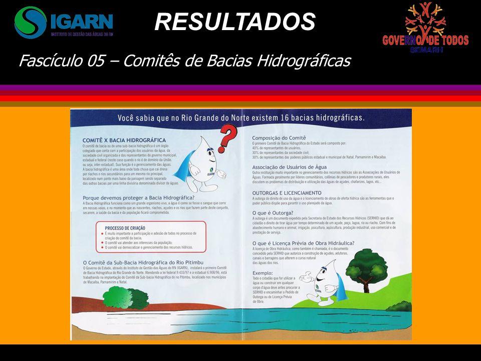 RESULTADOS Fascículo 05 – Comitês de Bacias Hidrográficas