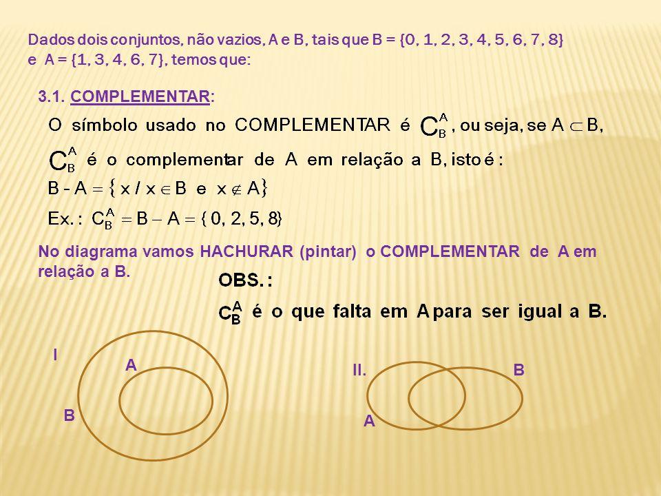 Dados dois conjuntos, não vazios, A e B, tais que B = {0, 1, 2, 3, 4, 5, 6, 7, 8}