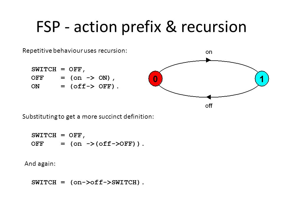 FSP - action prefix & recursion