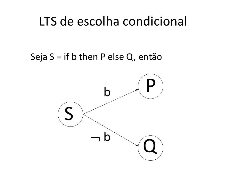 LTS de escolha condicional