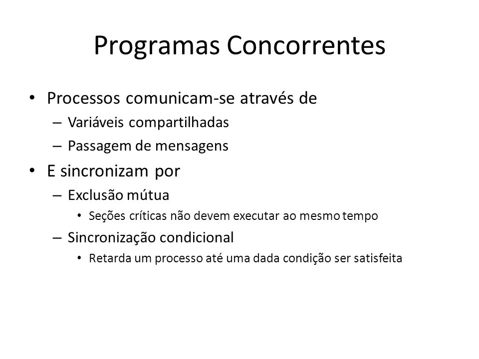 Programas Concorrentes