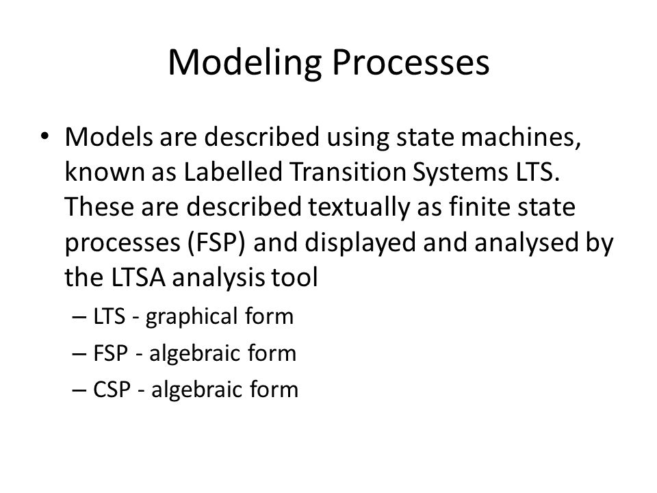 Modeling Processes