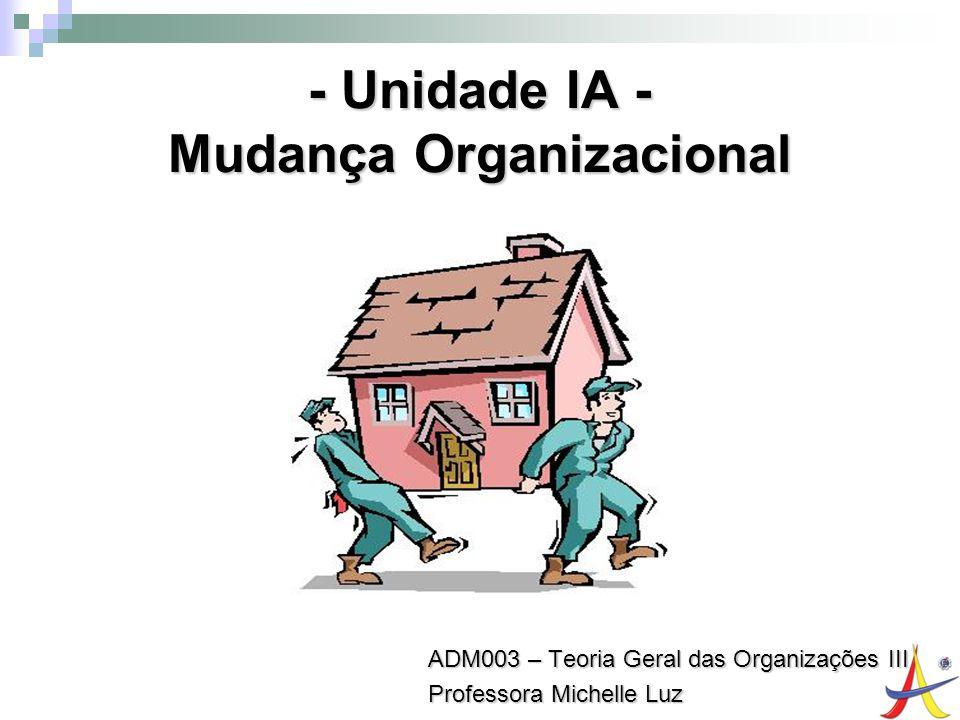 - Unidade IA - Mudança Organizacional