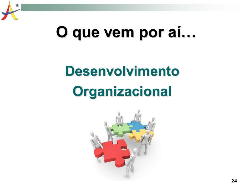 O que vem por aí… Desenvolvimento Organizacional